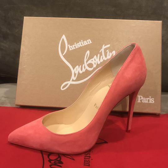 Christian Louboutin Stiletto Pigalle Follies Suede Begonia (Pink) Pumps Image 3
