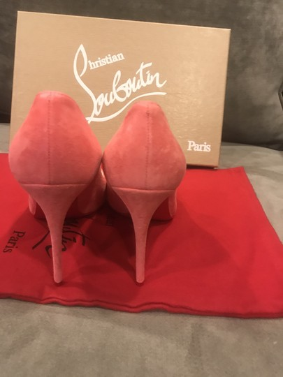 Christian Louboutin Stiletto Pigalle Follies Suede Begonia (Pink) Pumps Image 6