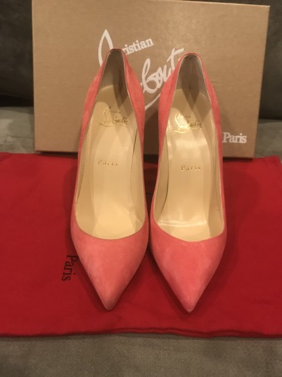 Christian Louboutin Stiletto Pigalle Follies Suede Begonia (Pink) Pumps Image 8