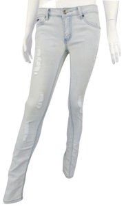 Dolce&Gabbana Distressed Stretch Dolce And Gabbana Light Wash Skinny Jeans-Distressed