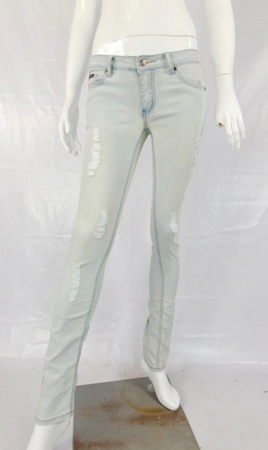 Dolce&Gabbana Distressed Stretch Dolce And Gabbana Light Wash Skinny Jeans-Distressed Image 1