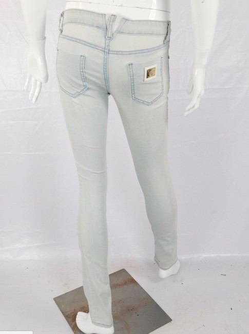 Dolce&Gabbana Distressed Stretch Dolce And Gabbana Light Wash Skinny Jeans-Distressed Image 3
