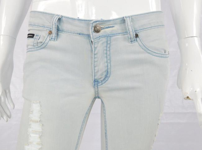 Dolce&Gabbana Distressed Stretch Dolce And Gabbana Light Wash Skinny Jeans-Distressed Image 5