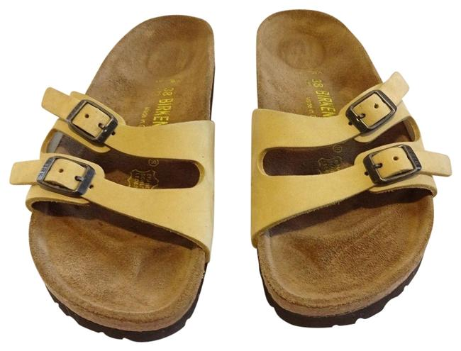 Item - Yellow Ibiza Two Slim Double Strap ~very Rare Color~ Sandals Size US 8.5 Regular (M, B)