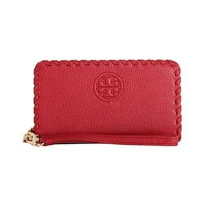 Tory Burch Tory Burch Marion Smartphone Leather Wristlet Wallet RedStone