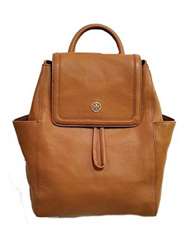 a682ba2387d0 Tory Burch Landon In Pebbled Bark Leather Backpack - Tradesy