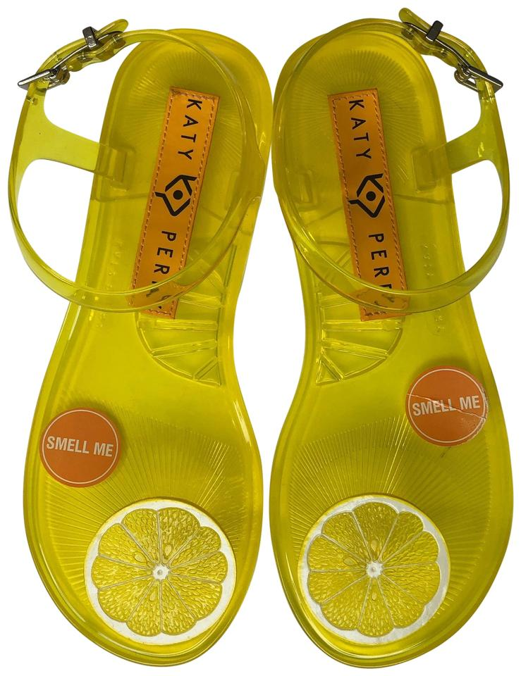 7630cd61c6ad Katy Perry Yellow Ankle Strap Sandals Size US 9 Regular (M