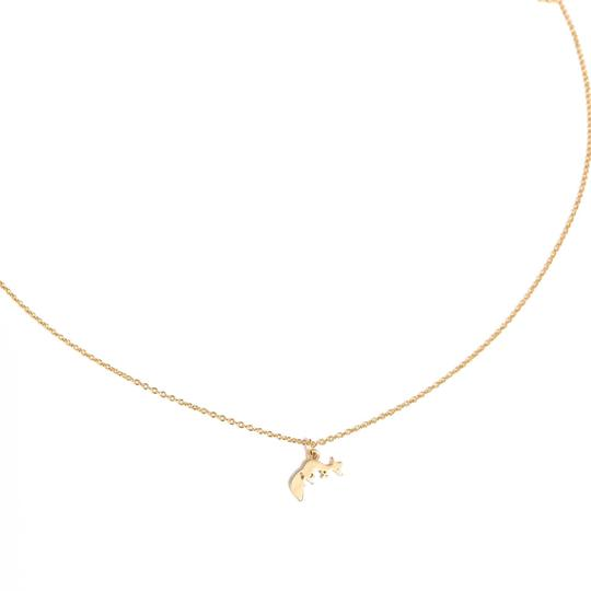 Elliot Francis Gold Mini Fox Choker Necklace Image 1