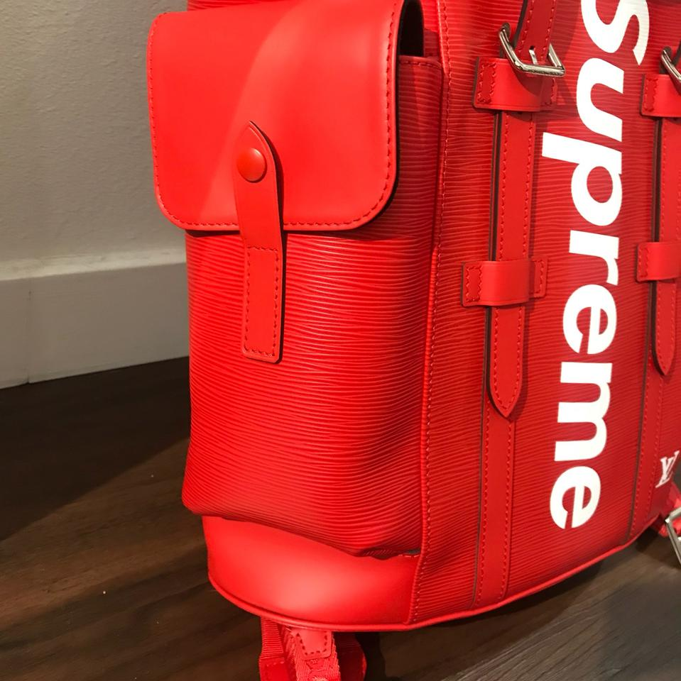 Red Supreme Backpack Leather- Fenix Toulouse Handball 6abd88f35ea00