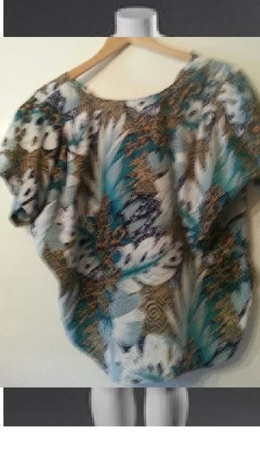 Private Label by G Button Down Shirt white/turquoise Image 2