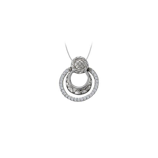 Preload https://img-static.tradesy.com/item/23516076/white-cubic-zirconia-triple-circle-pendant-in-14k-gold-necklace-0-0-540-540.jpg