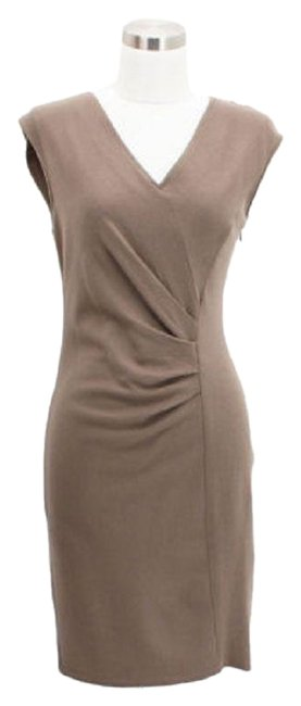 Item - Beige A01 Designer Small S Career Mid-length Short Casual Dress Size 4 (S)