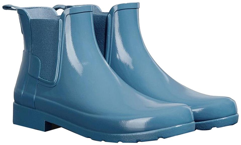 39b11944036 Hunter New Pale Air Force Blue Refined Chelsea Gloss Short Boots/Booties  Size US 8 Regular (M, B) 27% off retail