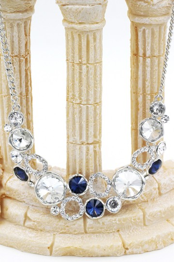 Ocean Fashion Fashion laps silver blue crystal necklace Image 1