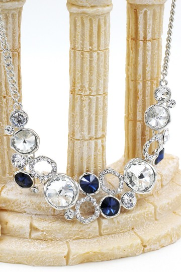 Ocean Fashion Fashion laps silver blue crystal necklace Image 2