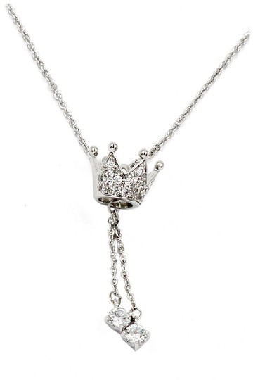 Ocean Fashion Little crown pendant crystal necklace Image 1
