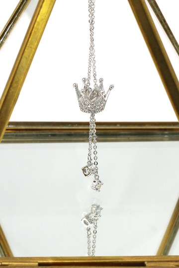Ocean Fashion Little crown pendant crystal necklace Image 2
