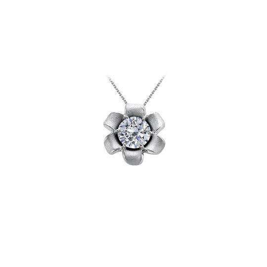 Preload https://img-static.tradesy.com/item/23516307/white-cute-cubic-zirconia-flower-pendant-in-14k-gold-necklace-0-0-540-540.jpg