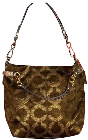 Preload https://img-static.tradesy.com/item/23516378/coach-vintage-pursesdesigner-purses-bronze-sateen-logo-print-fabric-and-buttery-soft-silver-leather-0-1-540-540.jpg