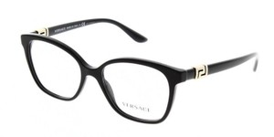 Versace New Versace Women Squared Eyeglasses VE3235B GB1 Black Frame Demo Lens