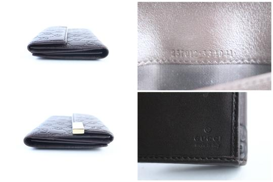 Gucci Flap Continental Long Empreinte Soho Brown Clutch Image 2