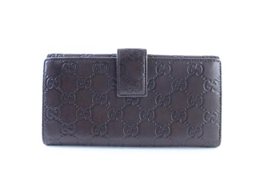 Gucci Flap Continental Long Empreinte Soho Brown Clutch Image 7