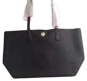 Tory Burch Spring Leather With Dustbag Spring Shoulder Summer Shoulder Spring Beach Tote in black