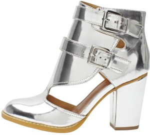 Nasty Gal Silver Boots