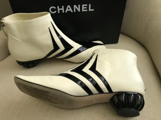 Chanel White / black Boots Image 1