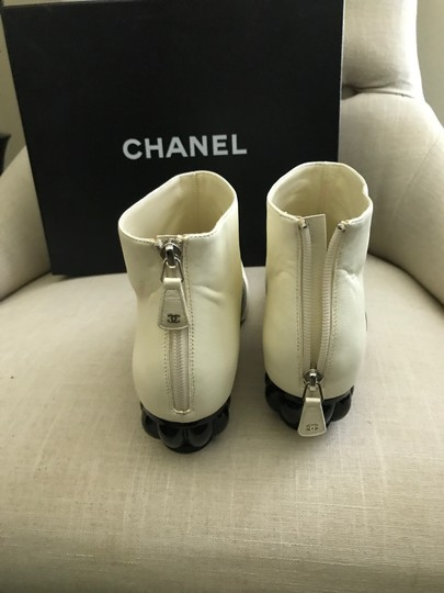 Chanel White / black Boots Image 3