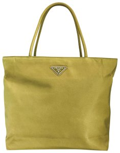 ec68ca87846a Prada Shoulder Bag Yellow Green Nylon Tote - Tradesy