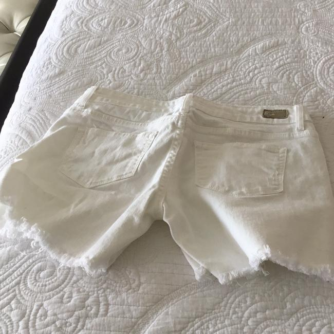 Paige Cut Off Shorts TWO PAIRS denim blue and white Image 5