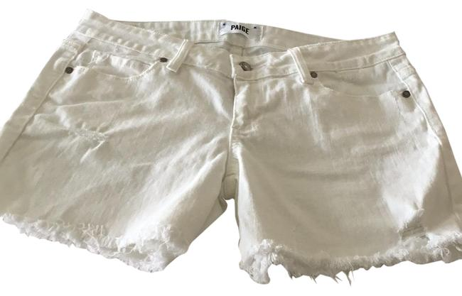 Paige Cut Off Shorts TWO PAIRS denim blue and white Image 1