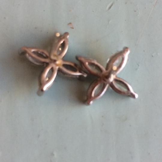 other Flower Crystal earrings with silver backing Image 2