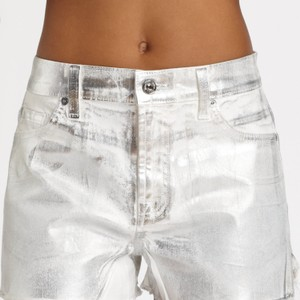 7 For All Mankind Cut Off Shorts Silver metallic