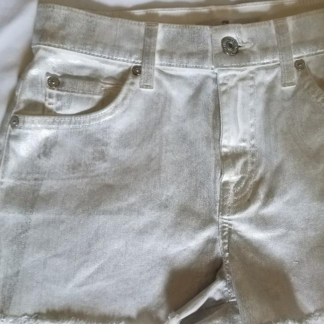 7 For All Mankind Cut Off Shorts Silver metallic Image 1