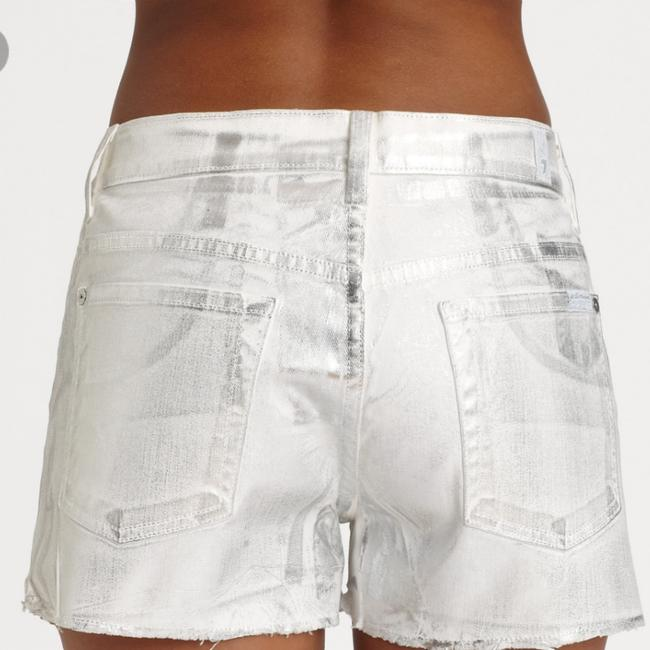 7 For All Mankind Cut Off Shorts Silver metallic Image 2