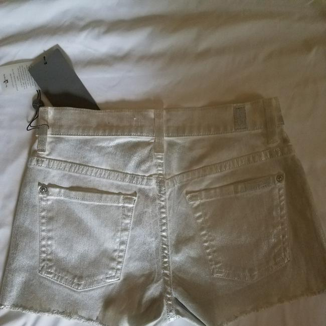 7 For All Mankind Cut Off Shorts Silver metallic Image 5