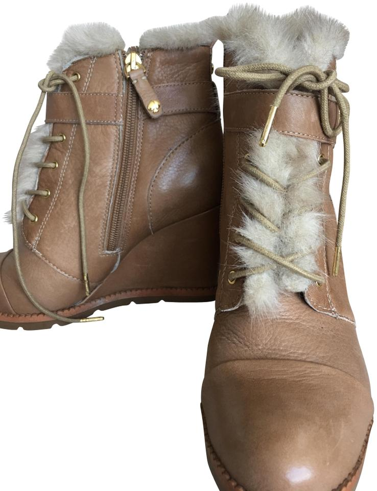 17183c9f Kate Spade Natural Tae Leather Boots/Booties Size US 7.5 Regular (M ...