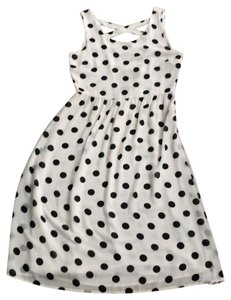 Forever 21 short dress White with Black Dots on Tradesy