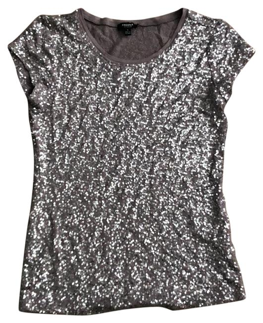 Preload https://img-static.tradesy.com/item/23517263/premise-silver-sequins-stretch-tee-tunic-size-6-s-0-1-650-650.jpg