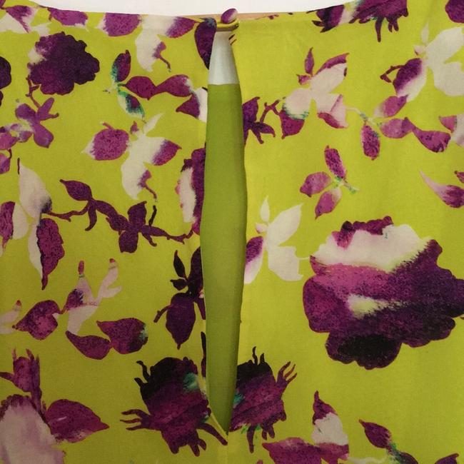 Alice + Olivia short dress Chartreuse with purple flowers. on Tradesy Image 3