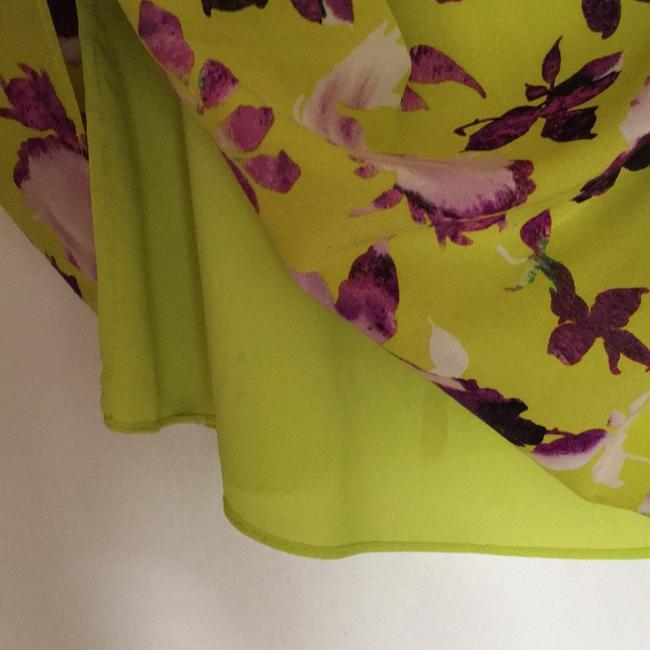 Alice + Olivia short dress Chartreuse with purple flowers. on Tradesy Image 7