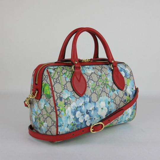 Gucci Beige/Blue Gg Coated Canvas Small 409529 8492 Satchel in Beige/Blue Image 1