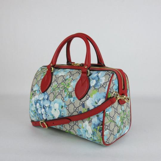 Gucci Beige/Blue Gg Coated Canvas Small 409529 8492 Satchel in Beige/Blue Image 2
