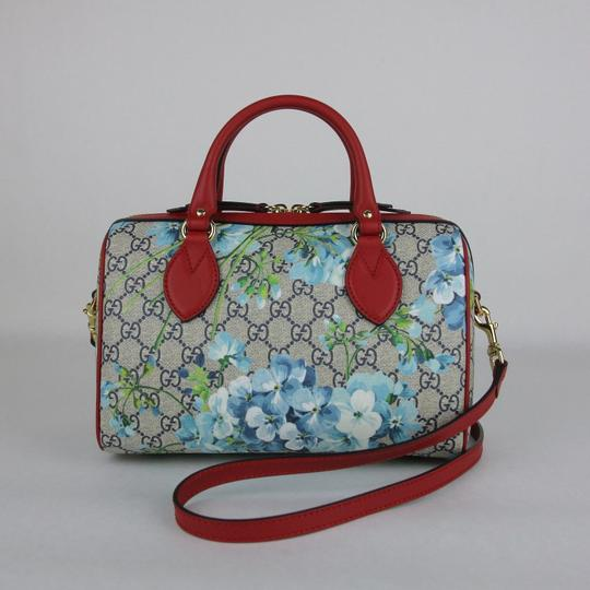 Gucci Beige/Blue Gg Coated Canvas Small 409529 8492 Satchel in Beige/Blue Image 3
