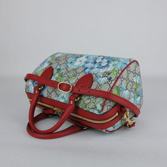 Gucci Beige/Blue Gg Coated Canvas Small 409529 8492 Satchel in Beige/Blue Image 4