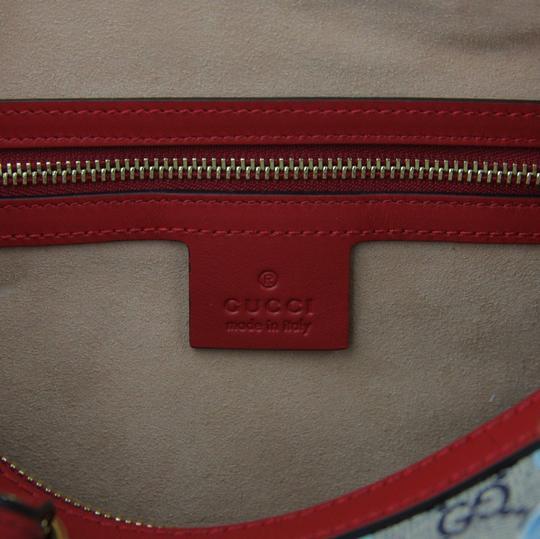 Gucci Beige/Blue Gg Coated Canvas Small 409529 8492 Satchel in Beige/Blue Image 7
