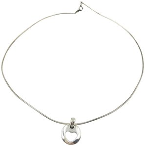 Tiffany & Co. 925 Silver Heart in Circle Necklace