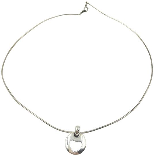 Tiffany & Co. 925 Silver Heart in Circle Necklace Image 0